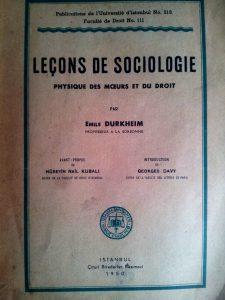 Hüseyin Nail Kubalı -Leçons de Sociologie